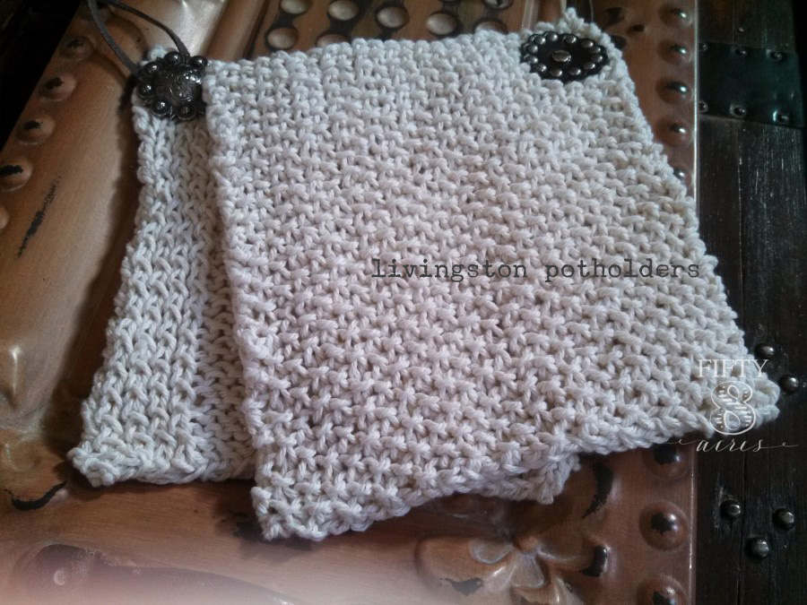 oatmeal livingston potholders back w wm