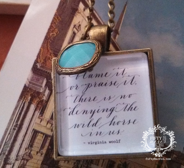 wild horse necklace - turquoise charm