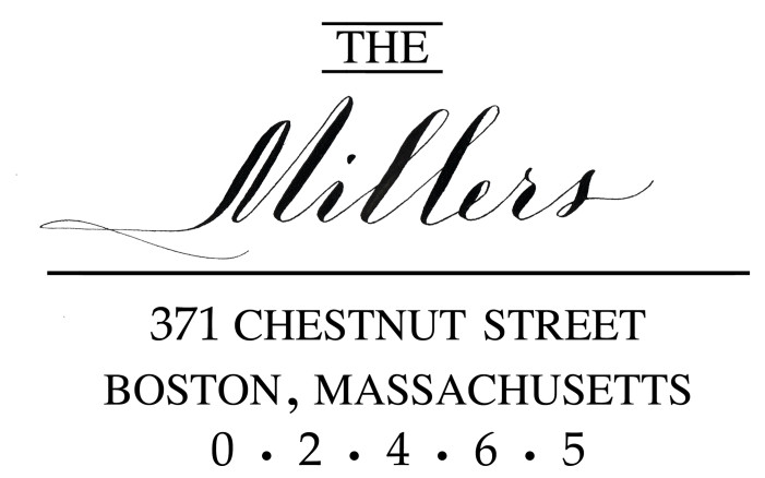 Chestnut custom return address stamp